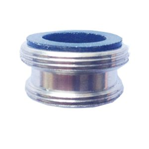 Male adapter for single or dual kitchen diverters, 15/16″ male x 55/64″ male.