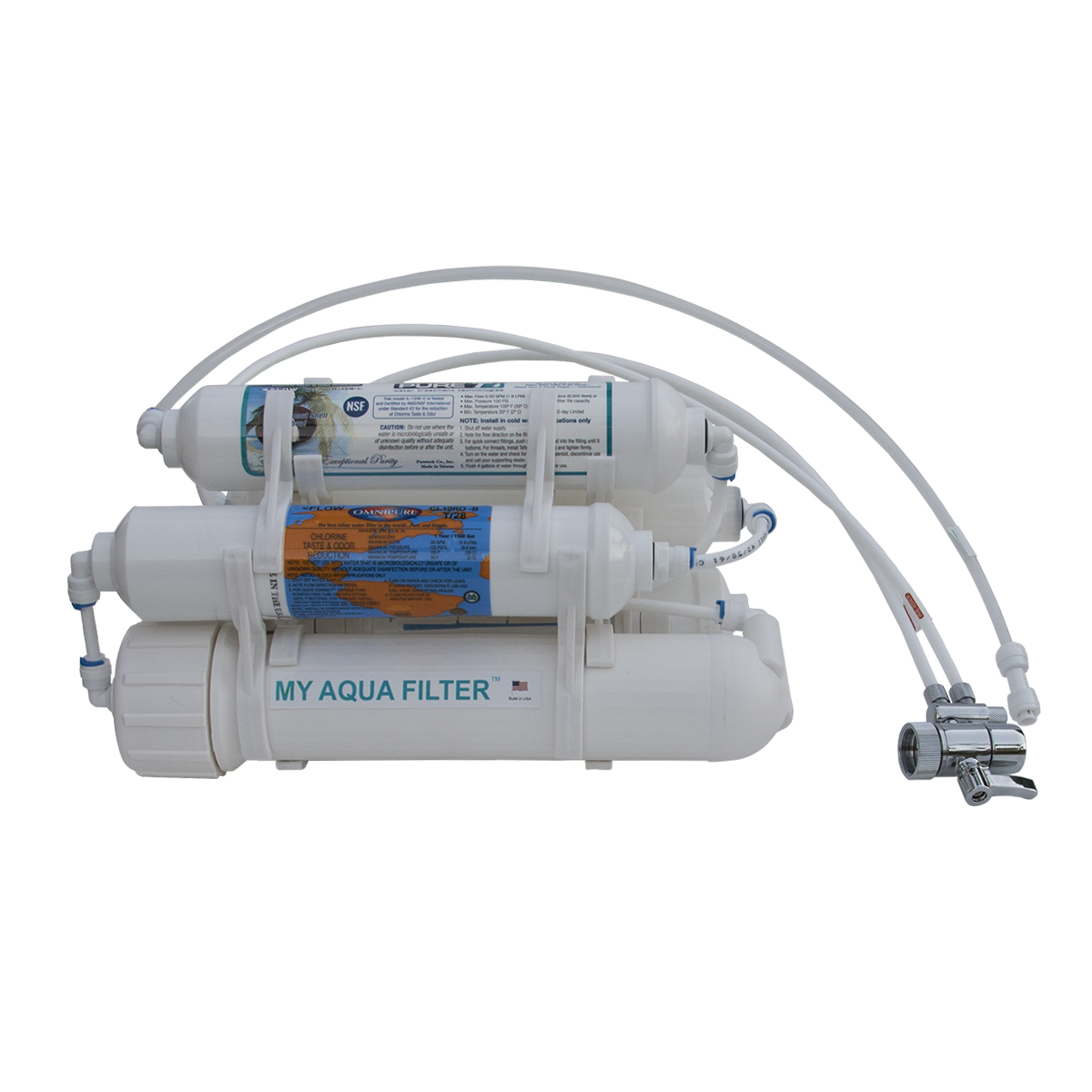 5 Stage Reverse Osmosis Countertop Water Purification System For Ultrapure Filtration With Close To 0ppm Di Post Filter 75 100 150 Gpd Membrane My Aqua Filter