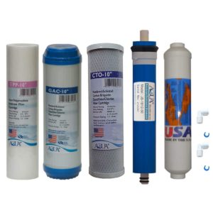 Universal 5 stage Reverse Osmosis Replacement Filter set with 50 GPD membrane